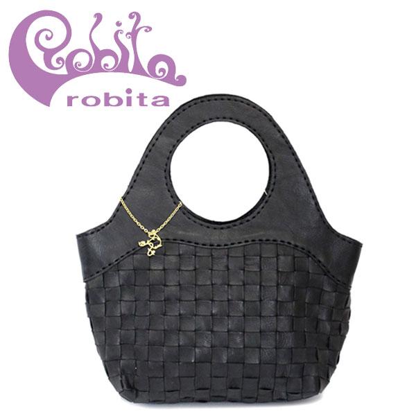 正規取扱店 robita(ロビタ) AN 050M アンティークメッシュレザー トートバッグ ブラック RBT040