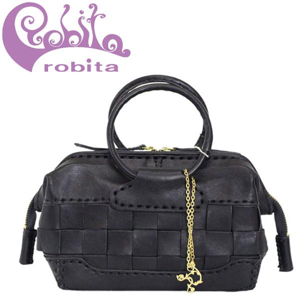 正規取扱店 robita (ロビタ) AN-222 メッシュレザー ミニドクターズ バッグ BLACK RBT051