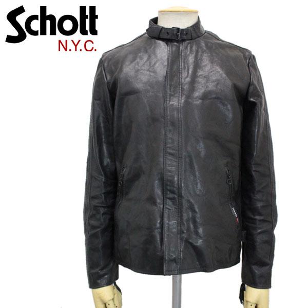 正規取扱店 SCHOTT (ショット) 3161043-09 GOAT SKIN CLASSIC RACER LEATHER JACKET(ゴートスキン クラシックレーサーレザージャケット) BLACK(ブラック)