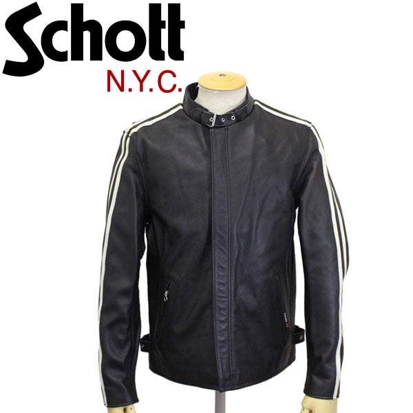 正規取扱店 Schott (ショット) 3181052 CLASSIC RACER JKT クラシックレーサー レザージャケット 09BLACK