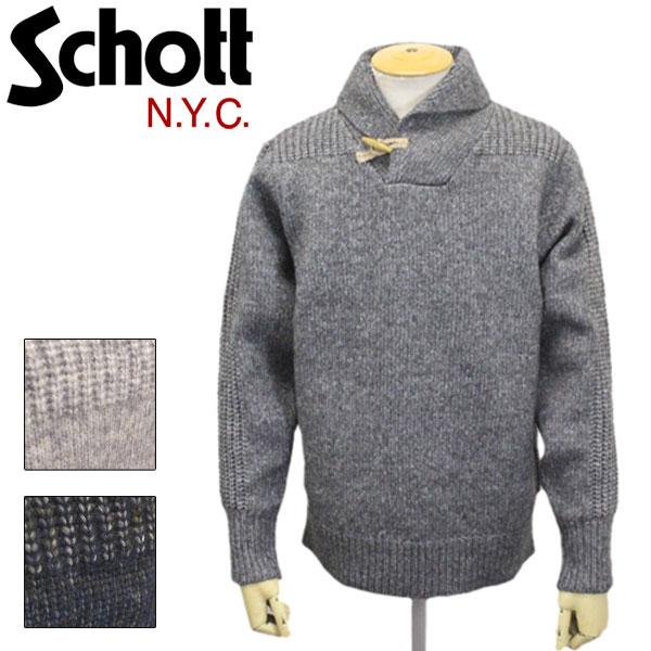 正規取扱店 Schott (ショット) 45988 SW1721 Tougle Sweater トグルセーター 全3色