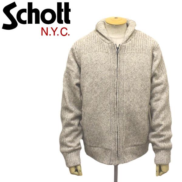 正規取扱店 Schott (ショット) 45991 F1832 BOA LINED SWEATER JKT ボアライン セーター ジャケット 10OATMEAL