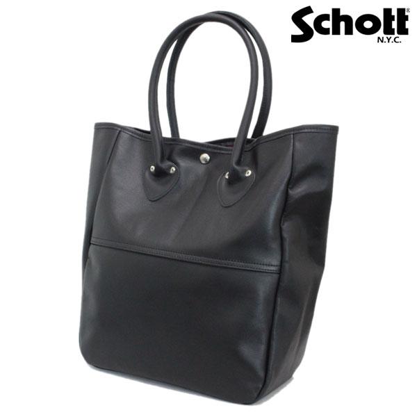 正規取扱店 SCHOTT(ショット) 4611 LEATHER TOTE BAG(レザートートバッグ) BLACK ブラック