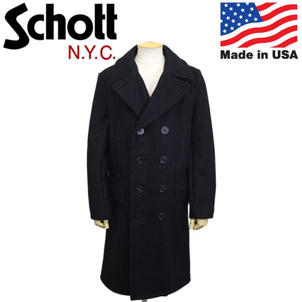 正規取扱店 Schott (ショット) 7331 714US LONG MELTON PEA COAT ロングメルトンピーコート 87NAVY