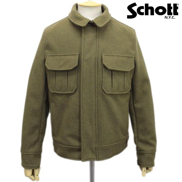正規取扱店 SCHOTT(ショット) 720 MELTON FIELD JACKET(メルトンフィールドジャケット) OLIVE オリーブ