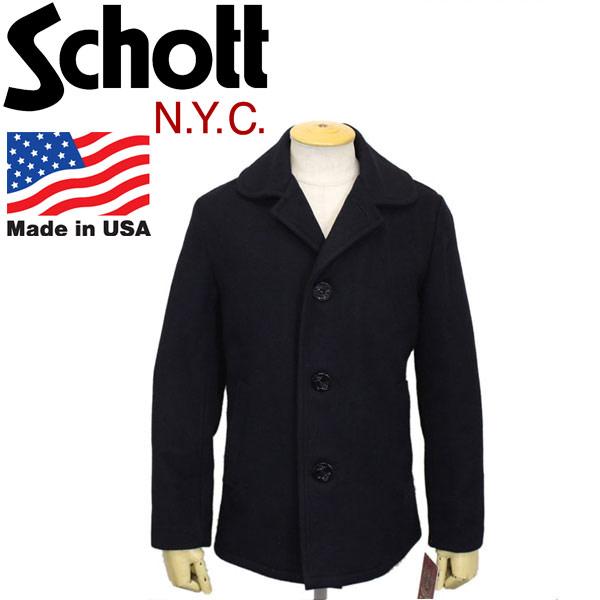 正規取扱店 Schott (ショット) 758US SINGLE PEA COAT シングル ピーコート アメリカ製 87-NAVY