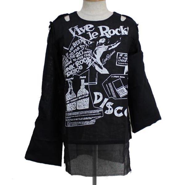 正規取扱店 666SEDITIONARIES by 666 セディショナリーズ MUSLIN TOP VIVE LE ROCK black STM0017