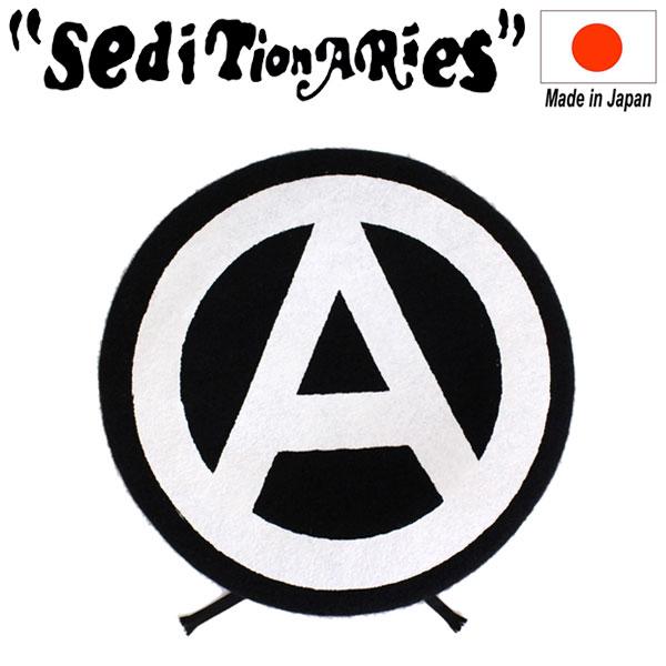正規取扱店 SEDITIONARIES by 666 (セディショナリーズ) A-MARK BERET ベレー帽 ブラック 日本製 STA0013