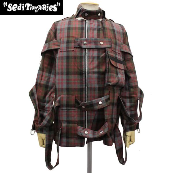 正規取扱店 SEDITIONARIES by 666 (セディショナリーズ) Bondage Jacket(ボンデッジジャケット) マクドナルドタータン STJ0002