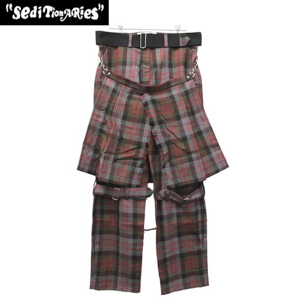 正規取扱店 SEDITIONARIES by 666 (セディショナリーズ) Bondage Trousers(ボンデッジトラウザーズ) マクドナルドタータン STP006