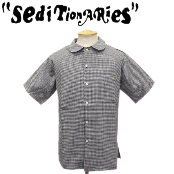 正規取扱店 SEDITIONARIES by 666 (セディショナリーズ) Peter Pan Shirt S/S (ピーターパンシャツ ショートスリーブ) 半袖 ブラック千鳥格子 STS0002