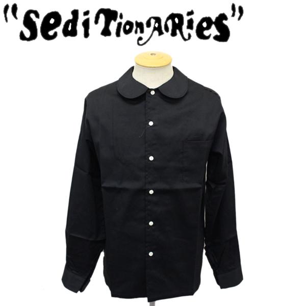 正規取扱店 SEDITIONARIES by 666 (セディショナリーズ) Peter Pan shirt L/S (ピーターパンシャツ ロングスリーブ) ブラック STS0005