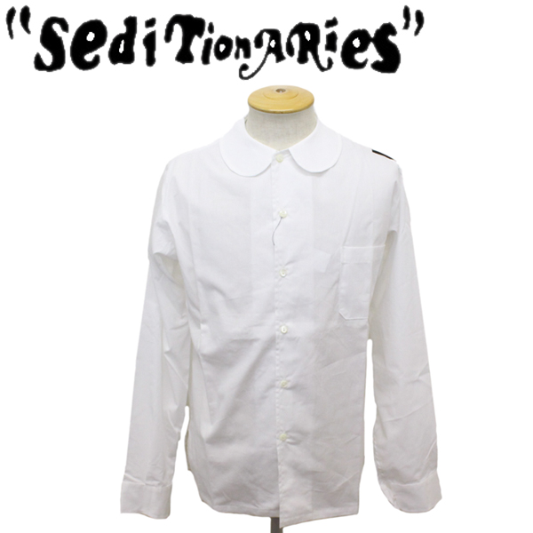 正規取扱店 SEDITIONARIES by 666 (セディショナリーズ) Peter Pan shirt L/S (ピーターパンシャツ ロングスリーブ) ホワイト STS0005