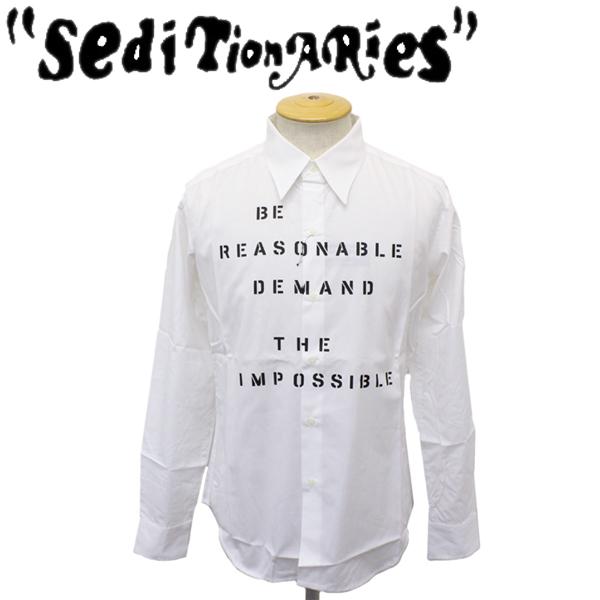 正規取扱店 SEDITIONARIES by 666 (セディショナリーズ) Be Reasonable shirt L/S (ビリーズナブルシャツ ロングスリーブ) ホワイト STS0013