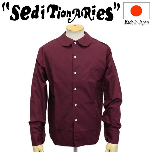 正規取扱店 SEDITIONARIES by 666 (セディショナリーズ) Peter Pan shirt L/S ピーターパンシャツ 長袖 ワインレッド STS0005