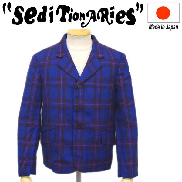 正規取扱店 SEDITIONARIES by 666 (セディショナリーズ) 3Button Bumfreezer Jacket スリーボタンバムフリーザージャケット ブルータータン STJ0004
