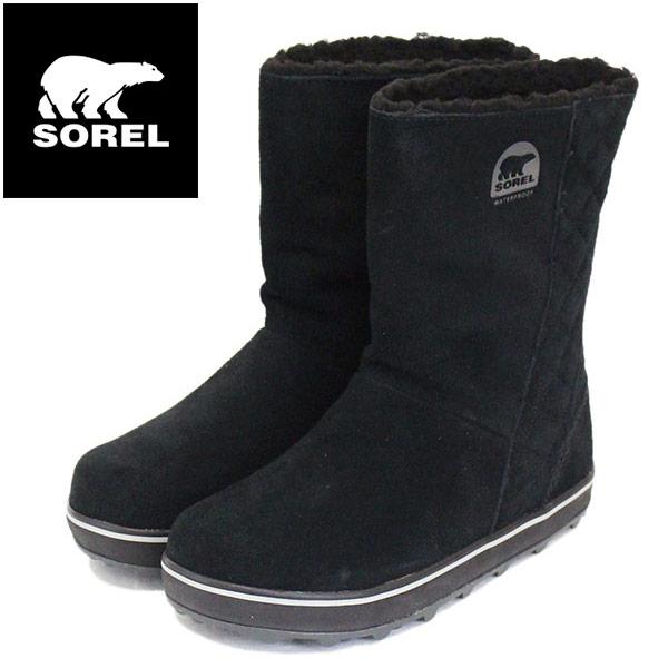 正規取扱店 SOREL (ソレル) NL1975 GLACY グレイシー レディース スノーブーツ 防水 011 BLACK SRL028