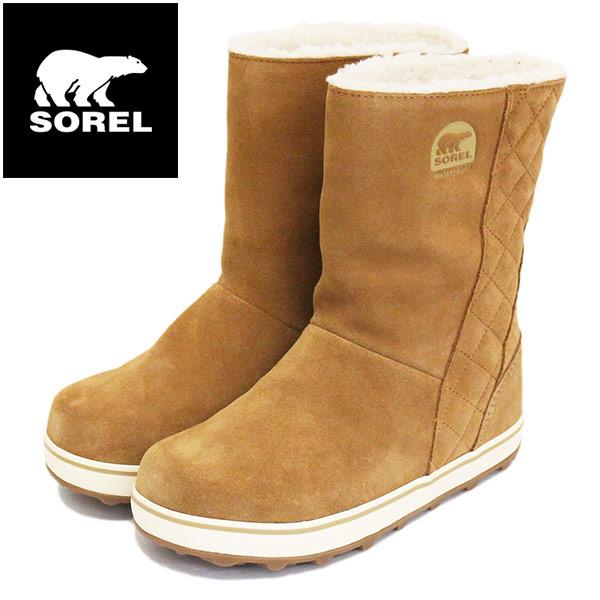正規取扱店 SOREL (ソレル) NL1975 GLACY グレイシー レディース スノーブーツ 防水 286 ELK SRL029