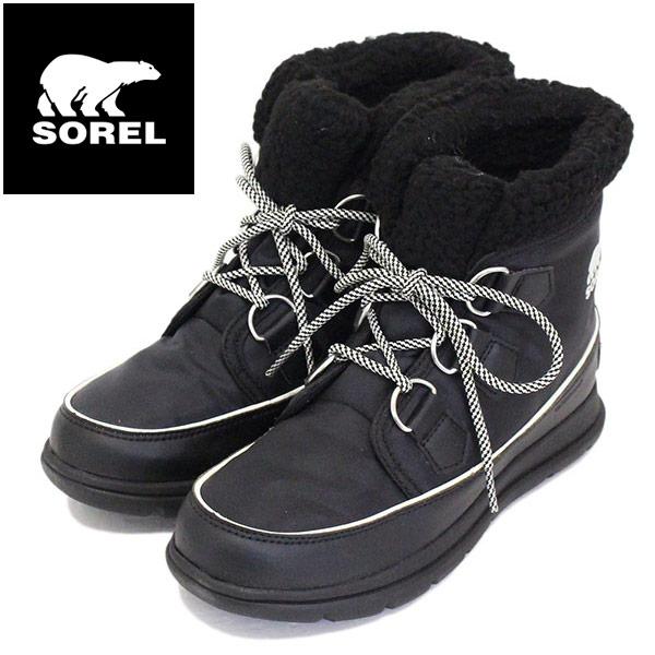 正規取扱店 SOREL (ソレル) NL3040 SOREL EXPLORER CARNIVAL エクスプローラーカーニバル レディース スノーブーツ 防水 010 BLACK SRL016