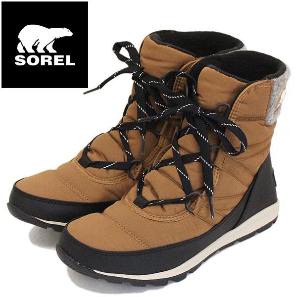 正規取扱店 SOREL (ソレル) NL3432 WHITNEY SHORT LACE ウィットニーショートレース レディース スノーブーツ 防水 286 ELK SRL026