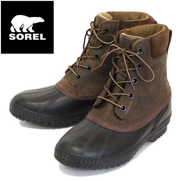 正規取扱店 SOREL (ソレル) NM2575 CHEYANNE II シャイアンII メンズ レインブーツ 防水 259 TOBACCO BLACK SRL052