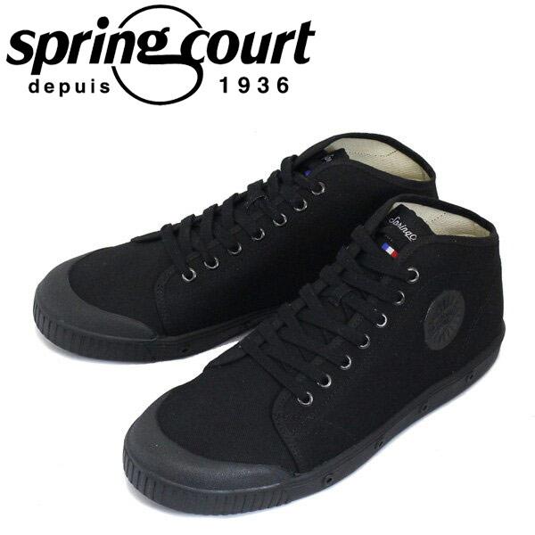 正規取扱店 spring court (スプリングコート) B2N-V1 B2 Canvas (B2キャンバス) メンズ ハイカットスニーカー BLACK (ブラック) SPC013