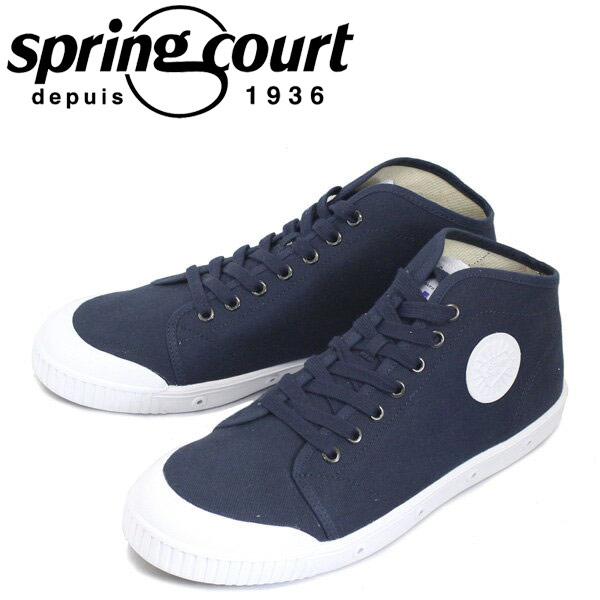 正規取扱店 spring court (スプリングコート) B2N-V1 B2 Canvas (B2キャンバス) メンズ ハイカットスニーカー MIDNIGHT BLUE (ミッドナイトブルー) SPC014