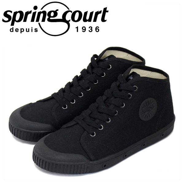 正規取扱店 spring court (スプリングコート) B2S-V1 B2 Canvas (B2キャンバス) レディース ハイカットスニーカー BLACK (ブラック) SPC018