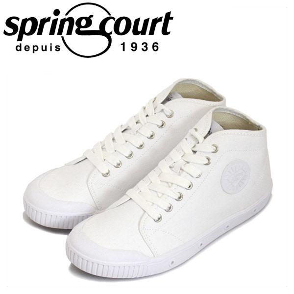 正規取扱店 spring court (スプリングコート) B2S-V1 B2 Canvas (B2キャンバス) レディース ハイカットスニーカー WHITE (ホワイト) SPC020