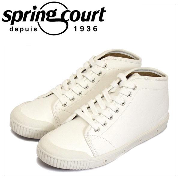 正規取扱店 spring court (スプリングコート) B2S-V5 B2 Leather (B2レザー) レディース ハイカットスニーカー WHITE (ホワイト) SPC022