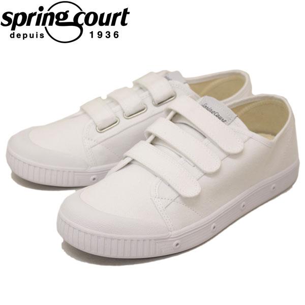 正規取扱店 spring court (スプリングコート) G2NV-V1 G2 Velcro Canvas (ベルクロキャンバス) メンズ スニーカー WHITE (ホワイト) SPC011
