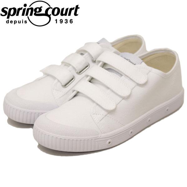正規取扱店 spring court (スプリングコート) G2SV-V1 G2 Velcro Canvas (ベロクロキャンバス) レディース スニーカー WHITE (ホワイト) SPC002