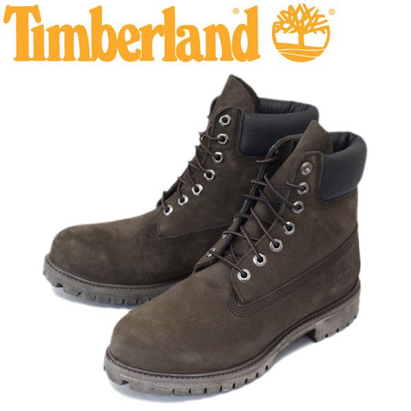 正規取扱店 Timberland (ティンバーランド) ICON 10001 6in Premium Boot (アイコン シックスインチ プレミアム レザーブーツ) ダークチョコレート ヌバック TB007
