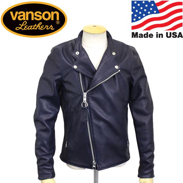 正規取扱店 VANSON (バンソン) Chopper minus(チョッパーマイナス) ライダース レザージャケット NAVY