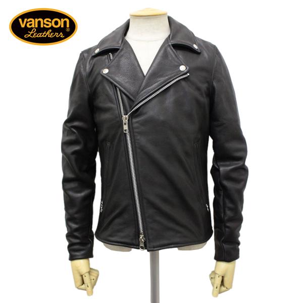正規取扱店 VANSON(バンソン) C2 CUSTOM2 UNISEX(C2カスタム2) ダブルライダースジャケット 別注タイトフィット BLACK ブラック