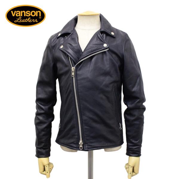 正規取扱店 VANSON(バンソン) C2 CUSTOM2 UNISEX(C2カスタム2) ダブルライダースジャケット 別注タイトフィット NAVY ネイビー