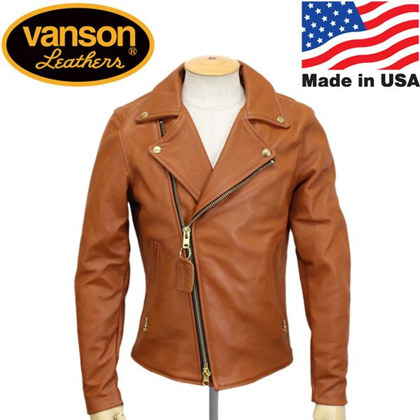 正規取扱店 VANSON (バンソン) C2 CUSTOM2 UNISEX(C2カスタム2) ダブルライダース レザージャケット 別注タイトフィット TAN(タン)