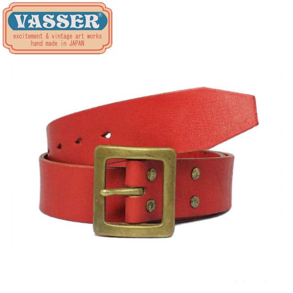 正規取扱店 VASSER(バッサー)Mighty Leather Belt Vintage Red(マイティーレザーベルト ビンテージレッド)