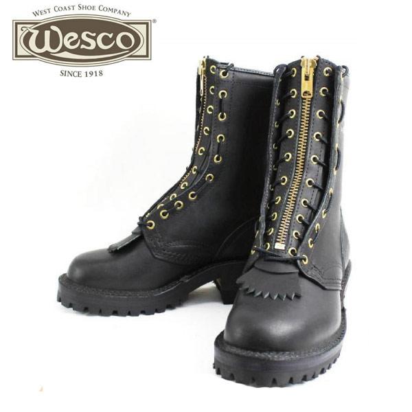 正規取扱店 正規ディーラー Wescoウエスコ Jobmaster Blackブラック, Leather Lining,10height,#100sole, Heels 2 Lifts Highter, Lace in Zipper JM30