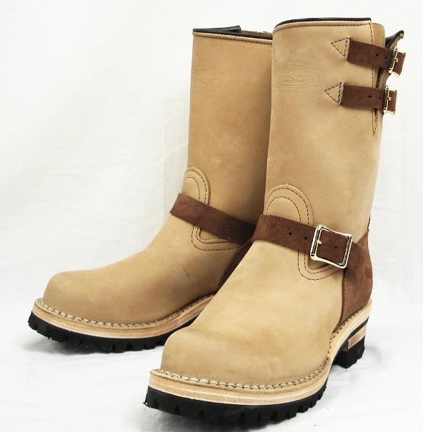 正規取扱店 正規ディーラーWescoウエスコ Boss ボス Burlap & Brown,10height,#100 sole,Double Mid Sole,2トーン,Bubble Toe,Lining BS32