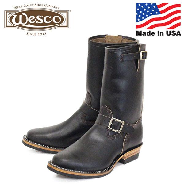 正規取扱店 限定 WESCO (ウエスコ) STOCK MISTER LOU 7600 ホースハイド エンジニアブーツ Black Horsehide ML01