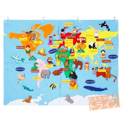 フェルト教材 世界地図 WORLD MAP(90×120cm) 151088