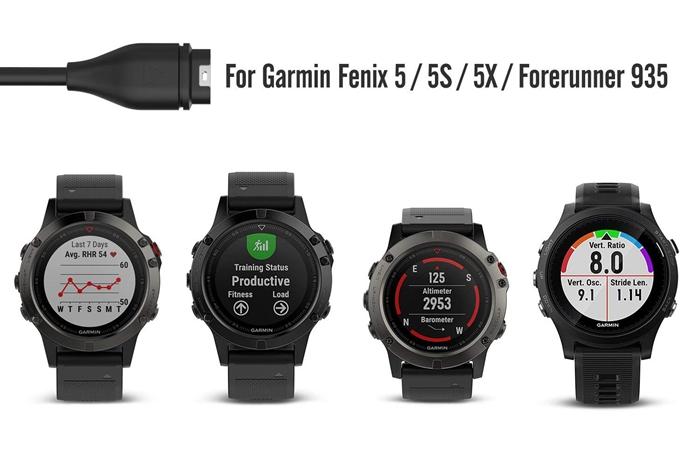 Garmin Fenix 5/5S/5X チャージケーブル (2 枚) &Garmin Fenix 5 防塵プラグ(10 個)- ATiC Garmin Fenix 5/5S/5X/Quatix 5/Forerunner 935用 チャージャー USB充電ケーブル& シリコーン製vivosport プラグ