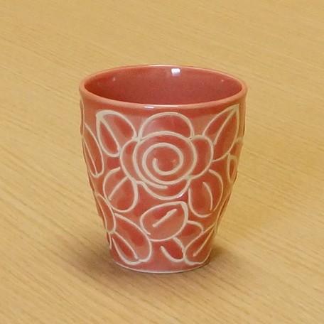 限期供应日式餐具餐具、烹调器具蓝色玫瑰粉红玫瑰杯子喝茶餐具 ※fu