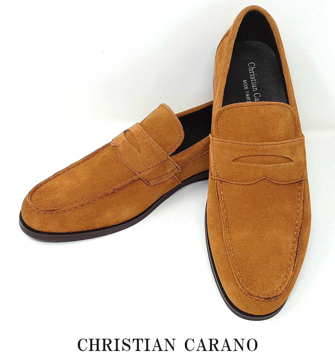 日本製 本革 ベロアレザー ローファー ドレスシューズ メンズ 靴 ショック吸収 おしゃれ ペニーローファー 3Eクリスチャンカラノ Christian Carano 69 高級