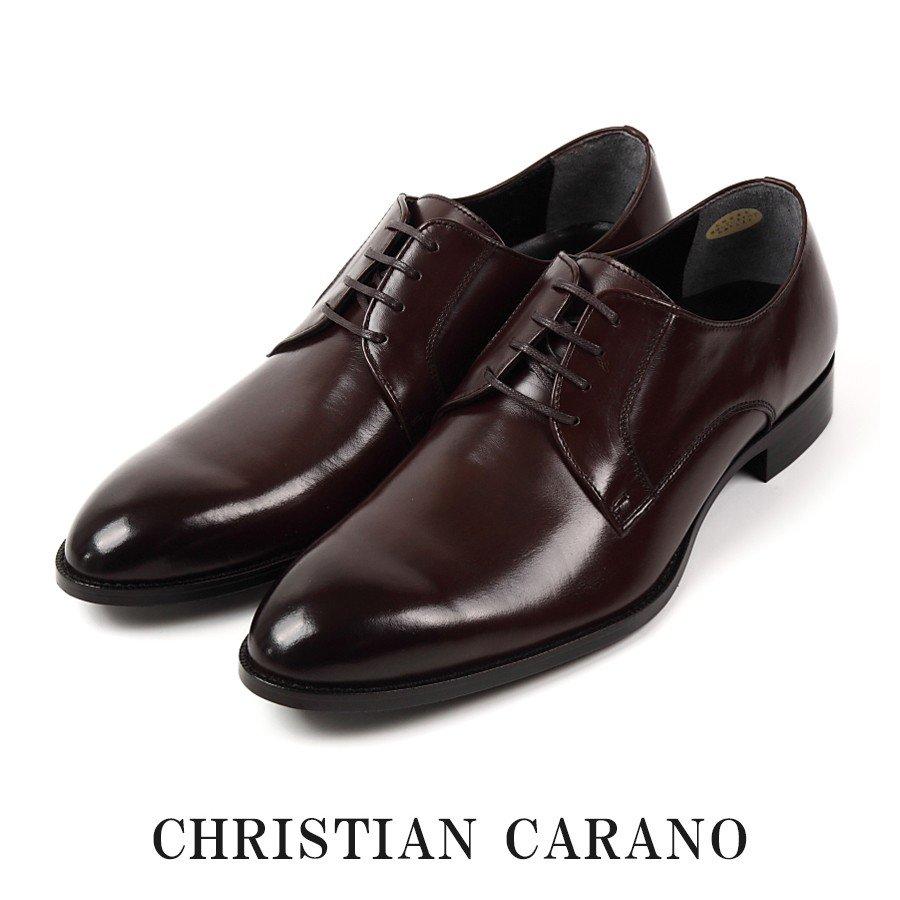 在庫限り 日本製 本革 キングサイズ 外羽根 プレーントゥ 4E メンズ ビジネスシューズ 大きいサイズ 撥水 手染めカラー 紳士靴 Christian Carano - クリスチャンカラノ TK-850 TK850