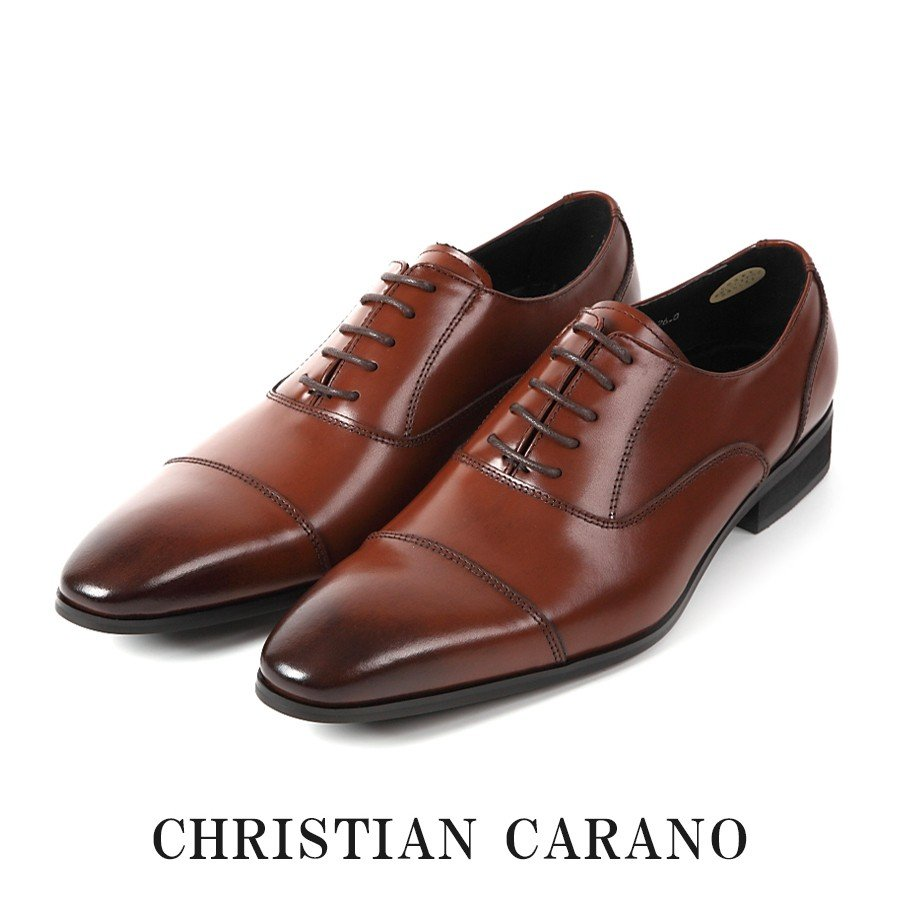 在庫限り 日本製 本革 内羽根 ストレートチップ 3E メンズ ビジネスシューズ 撥水 手染めカラー 紳士靴 Christian Carano - クリスチャンカラノ TK-847