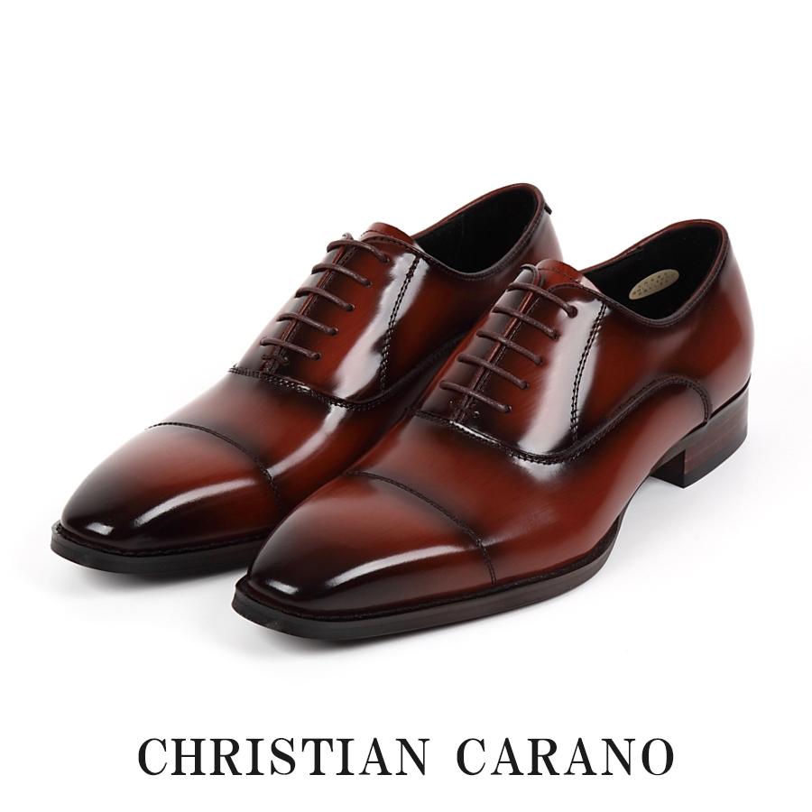日本製 本革 キングサイズ 4E 内羽根 ストレートチップメンズ ビジネスシューズ 大きいサイズ 30.0 31.0cm 撥水加工 手染めカラー 紳士靴 Christian Carano - クリスチャンカラノ TK-490k
