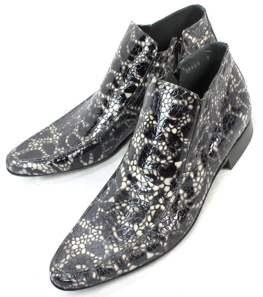 ヨーロッパ製 高級 ブーツ メンズ ショート サイドジップ 3E mister 29469 ブランド 紳士 靴 プレミア スペイン
