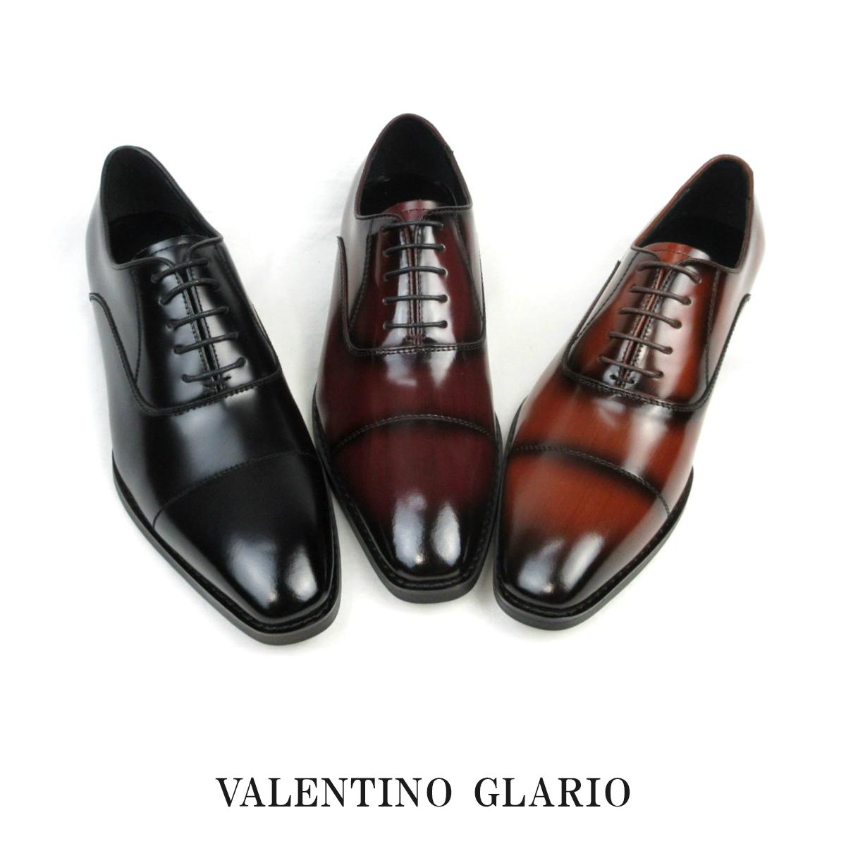 日本製 本革 内羽根 ストレートチップ メンズ ドレス&ビジネスシューズ 3E 撥水加工 手染めカラー 紳士靴 Valentino Glario - バレンチノグラリオ 4900 sale セール